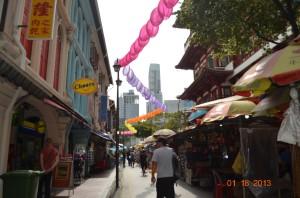 Ruelle commerçante de Chinatown