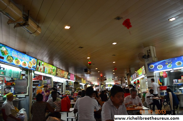 Nourriture au coin de la rue à Singapour
